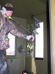 Bow Hunting Fronm Box Blind-Ohio Deer Hunting Preserve