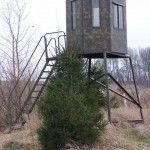 Tower Box Hunting Blind-Ohio Whitetail Hunting Preserve